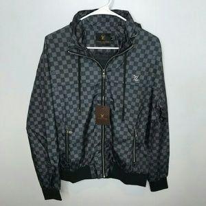 Louis Vuitton XL Gray Windbreaker Jacket